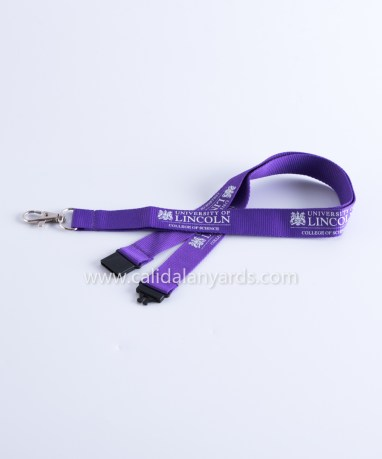 purple 20mm silk_screen_ printed polyester lanyard with safety breakaway_m2